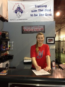 Signing her letter of intent